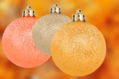 Three christmas balls Royalty Free Stock Image