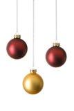 Three christmas balls Stock Photos