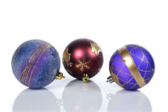 Three christmas balls Stock Photography