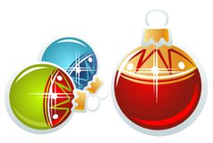 Three christmas balls Royalty Free Stock Photography