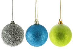 Three Christmas balls Stock Images