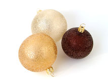 Three christmas balls isolated Royalty Free Stock Image