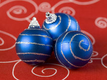 Three christmas balss Stock Photography