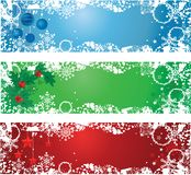 Three Christmas banners Stock Photos
