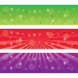 Three Christmas banners. Stock Images