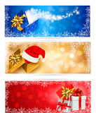 Three christmas banners Stock Photo