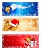 Three christmas banners Stock Photo