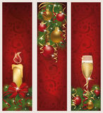 Three christmas banners Stock Photos