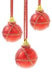 Three Christmas baubles Royalty Free Stock Images