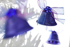 Three Christmas bells Royalty Free Stock Photos