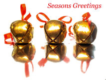 Three Christmas Bells Stock Photography