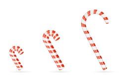 Three Christmas canes Royalty Free Stock Photos