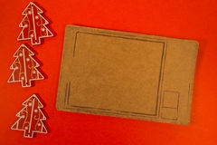 Three Christmas decoration with pricetag Stock Photo