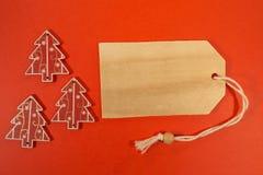 Three Christmas decoration with pricetag Royalty Free Stock Photos