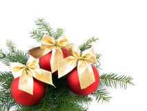 Three christmas glass balls Royalty Free Stock Photography