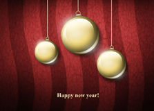 Three christmas globe Stock Images
