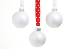 Three christmas ornaments Royalty Free Stock Photography