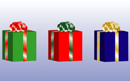 Three Christmas Presents Royalty Free Stock Image