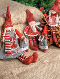 Three christmas rag dolls Royalty Free Stock Photography