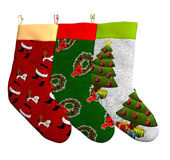 Three Christmas Stockings Royalty Free Stock Photo