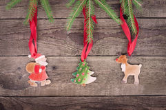 Three christmas symbol Royalty Free Stock Photo