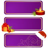 Three christmas tablets Royalty Free Stock Photography