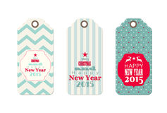 Three christmas  tags in shabby chic style Royalty Free Stock Images