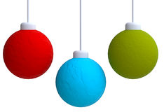 Three Christmas toys in plasticine or clay style Stock Photography