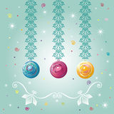 Three Christmas-tree balls Stock Photography
