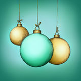 Three christmas tree balls. Illustration of three christmas tree balls Royalty Free Stock Photos