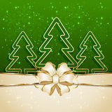 Three Christmas tree Royalty Free Stock Photo