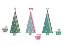 Three Christmas trees Stock Image