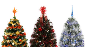 Three christmas trees Royalty Free Stock Photos