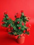 Three christmas trees Stock Photos