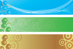 Three christrmas banners Stock Image