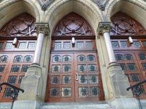 Three church doors. Three very nice wooden church doors Royalty Free Stock Photos