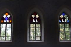 Three Church windows Stock Photos