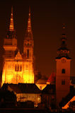 Three churches Stock Image