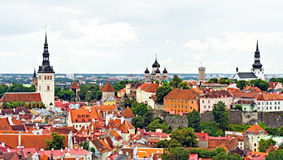 Three churches in old Tallinn. Stock Images