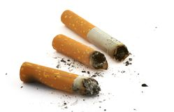 Three cigarette butts Stock Photography