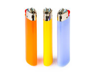 Three cigarette lighters Royalty Free Stock Images