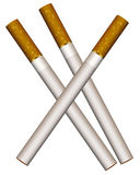 Three cigarettes. Vector illustration of three cigarettes on a white background Stock Photos