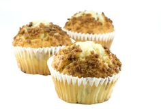 Three Cinnamon Muffins Royalty Free Stock Image