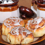 Three Cinnamon Rolls Stock Image