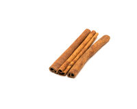 Three cinnamon sticks Royalty Free Stock Photos