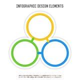 Three Circle Infographics Royalty Free Stock Photos