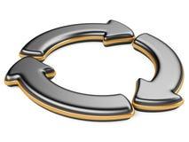 Three circular arrows Royalty Free Stock Photography