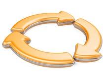 Three circular arrows Stock Image