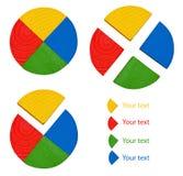 Three circular diagrams Royalty Free Stock Photo