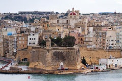 Three cities. Malta. Top view of  Senglea (Three cities). Malta Stock Photo